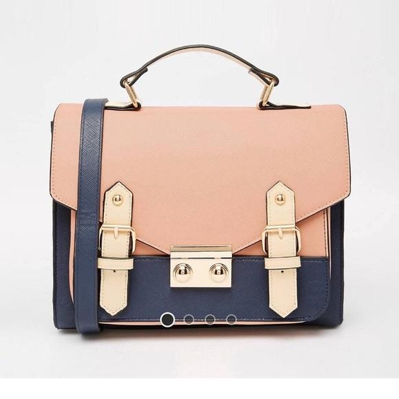 asos bags color blocked satchel bag poshmark rh poshmark com
